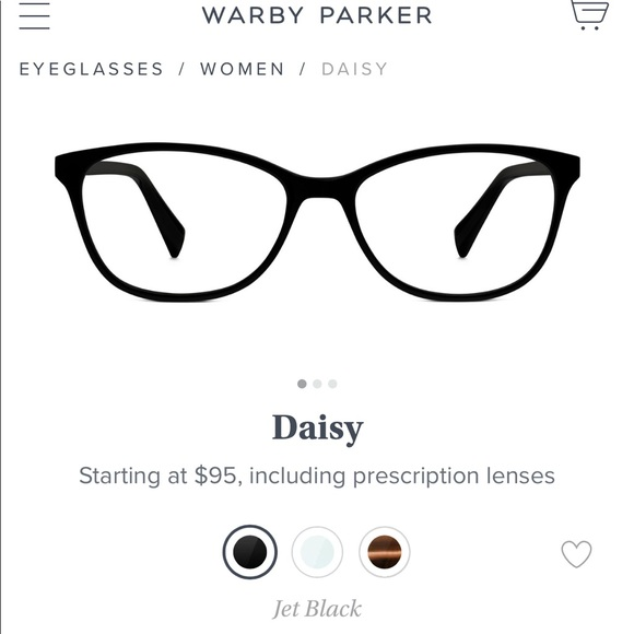 """779636031a NWT Warby Parker """"Daisy"""" Glasses"""